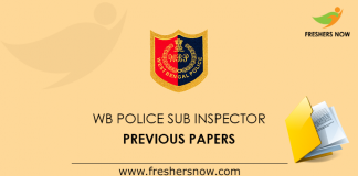 WB Police Sub Inspector Previous Papers