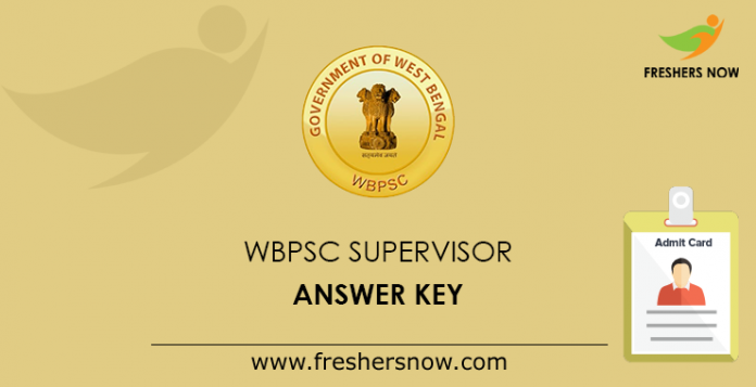 WBPSC Supervisor Answer Key