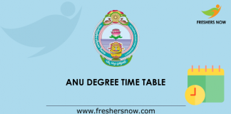 ANU Degree Time Table