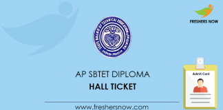 AP SBTET Diploma Hall Ticket
