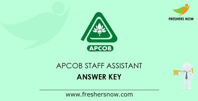 APCOB Staff Assistant Answer Key