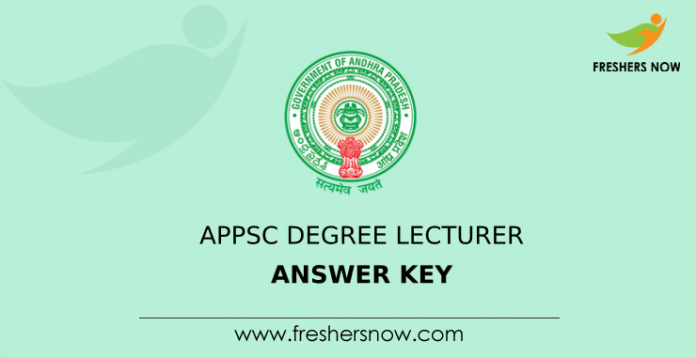 APPSC Degree Lecturer Answer Key