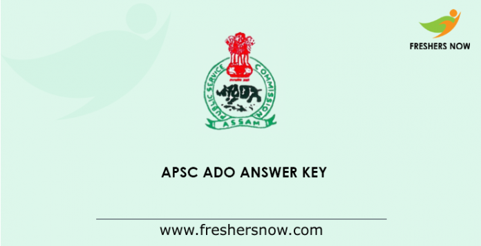 APSC Agricultural Development Officer Answer Key