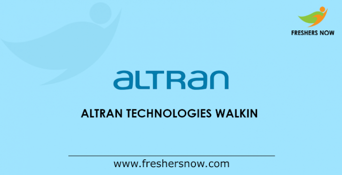 Altran Technologies walkin