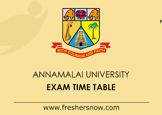 Annamalai University Exam Time Table