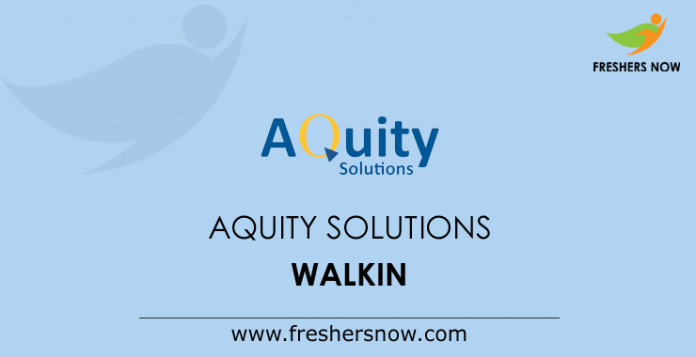 Aquity Solutions Walkin