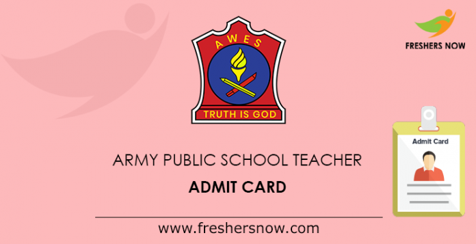 Army Public School Teacher Admit Card