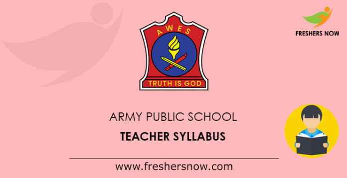 Army Public School Teacher Syllabus