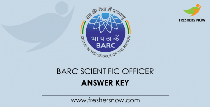 BARC Scientific Officer Answer Key