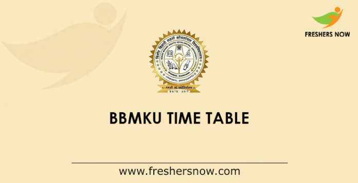 BBMKU Time Table