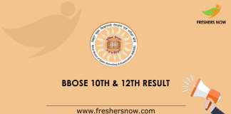 BBOSE 10th & 12th Result