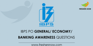 BPS PO Banking Awareness Questions