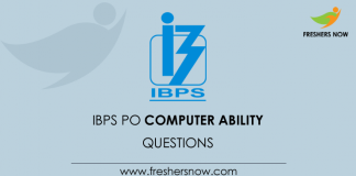 BPS PO Computer Ability Questions