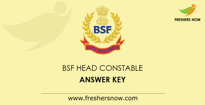 BSF Head Constable Answer Key