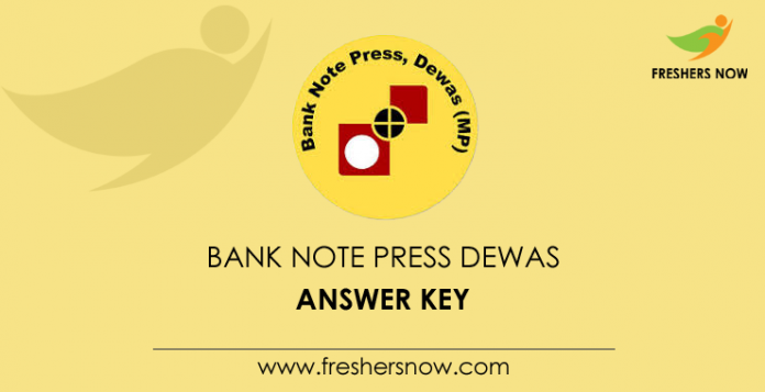 Bank Note Press Dewas Answer Key