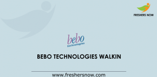 Bebo Technologies Walkin
