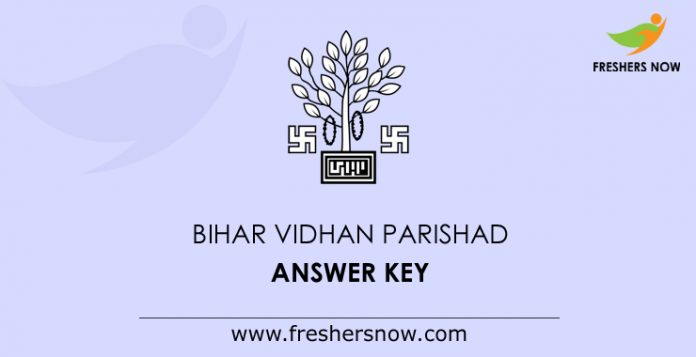 Bihar Vidhan Parishad Answer Key