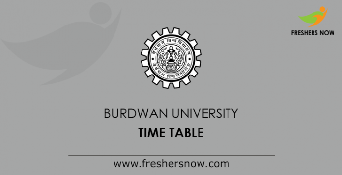 Burdwan University Time Table