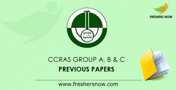 CCRAS Group A, B & C Previous Papers