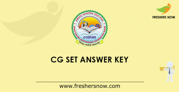 CG SET Answer Key