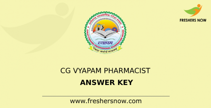 CG Vyapam Pharmacist Answer Key