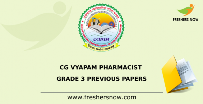 CG Vyapam Pharmacist Previous Papers