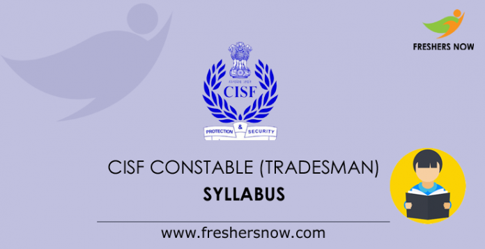 CISF Constable (Tradesman) Syllabus