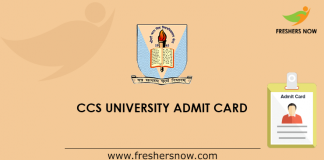CSS University Admit Card
