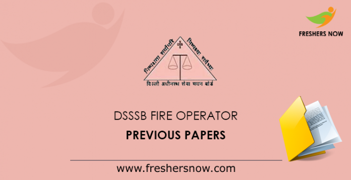 DSSSB Fire Operator Previous Paper