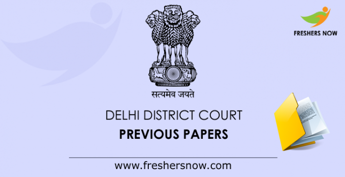 Delhi District Court Previous Papers