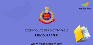 Delhi Police Head Constable Previous paper