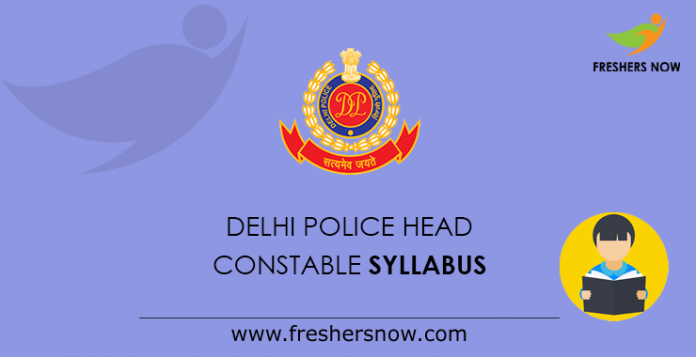 Delhi Police Head Constable Syllabus