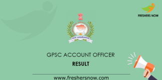 GPSC Accounts Officer Result
