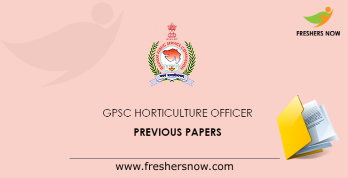 GPSC Horticulture Officer Previous Papers