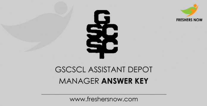 GSCSCL Assistant Depot Manager Answer Key
