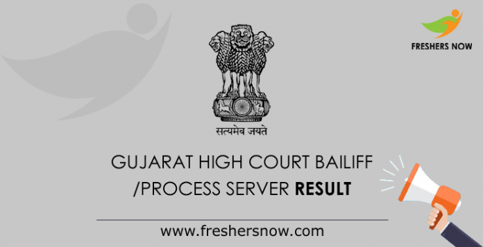 Gujarat High Court Bailiff Process Server Result