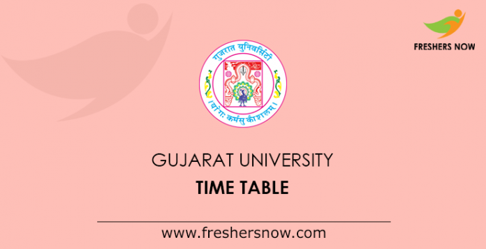 Gujarat University Time Table
