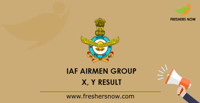 IAF Airmen Group X, Y Result