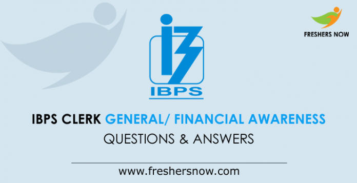 IBPS General Financial Awareness Questions