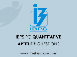 IBPS PO Quantitative Aptitude Questions and Answers