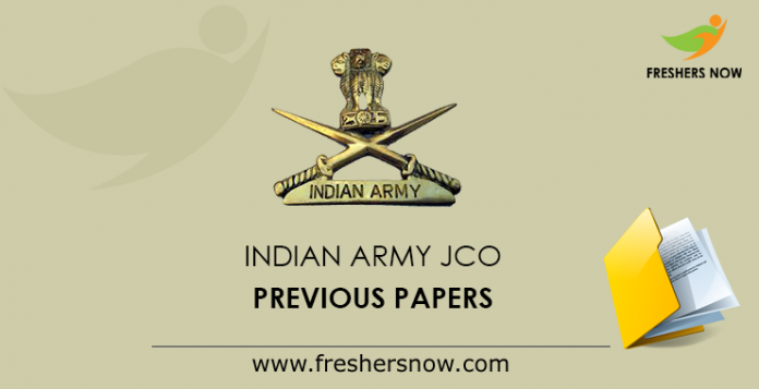 Indian Army JCO Previous Paper