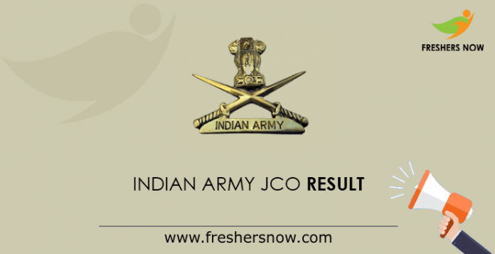 Indian Army JCO Result