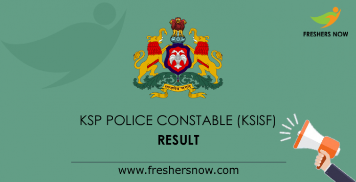 KSISF Police Constable Result