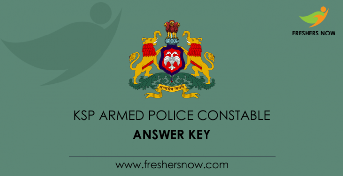 KSP Armed Police Constable Answer Key
