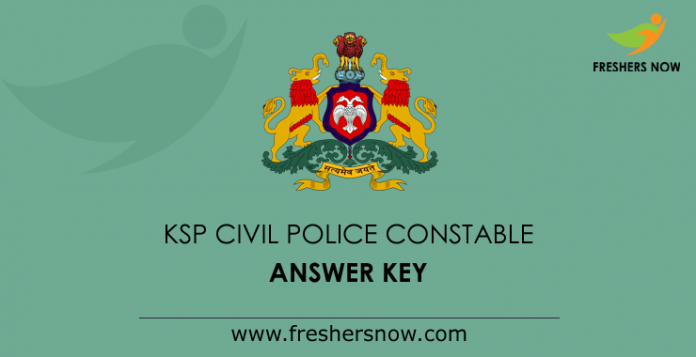 KSP Civil Police Constable Answer Key