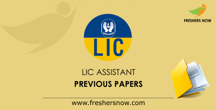 LIC Assistant Previous Papers
