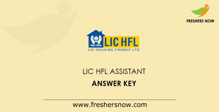 LIC HFL Assistant Answer Key