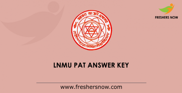 LNMU-PAT-Answer-Key