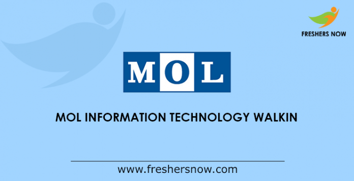MOL Information Technology Walkin