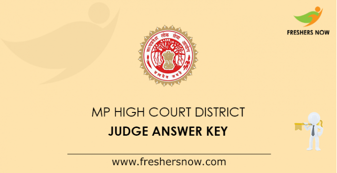 MP High Court District Judge Answer Key